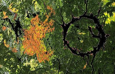 Manicouagan, Satellite Image