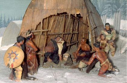 Huron-Wendake Nativity Scene