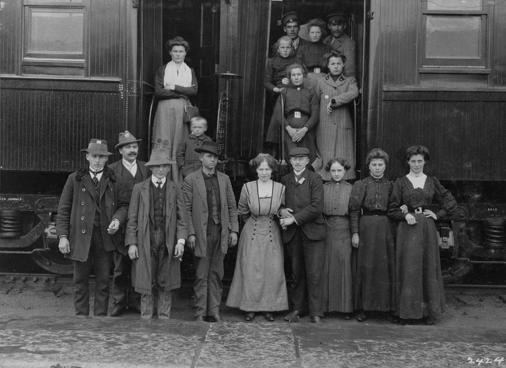Immigrants de Hambourg en Allemagne