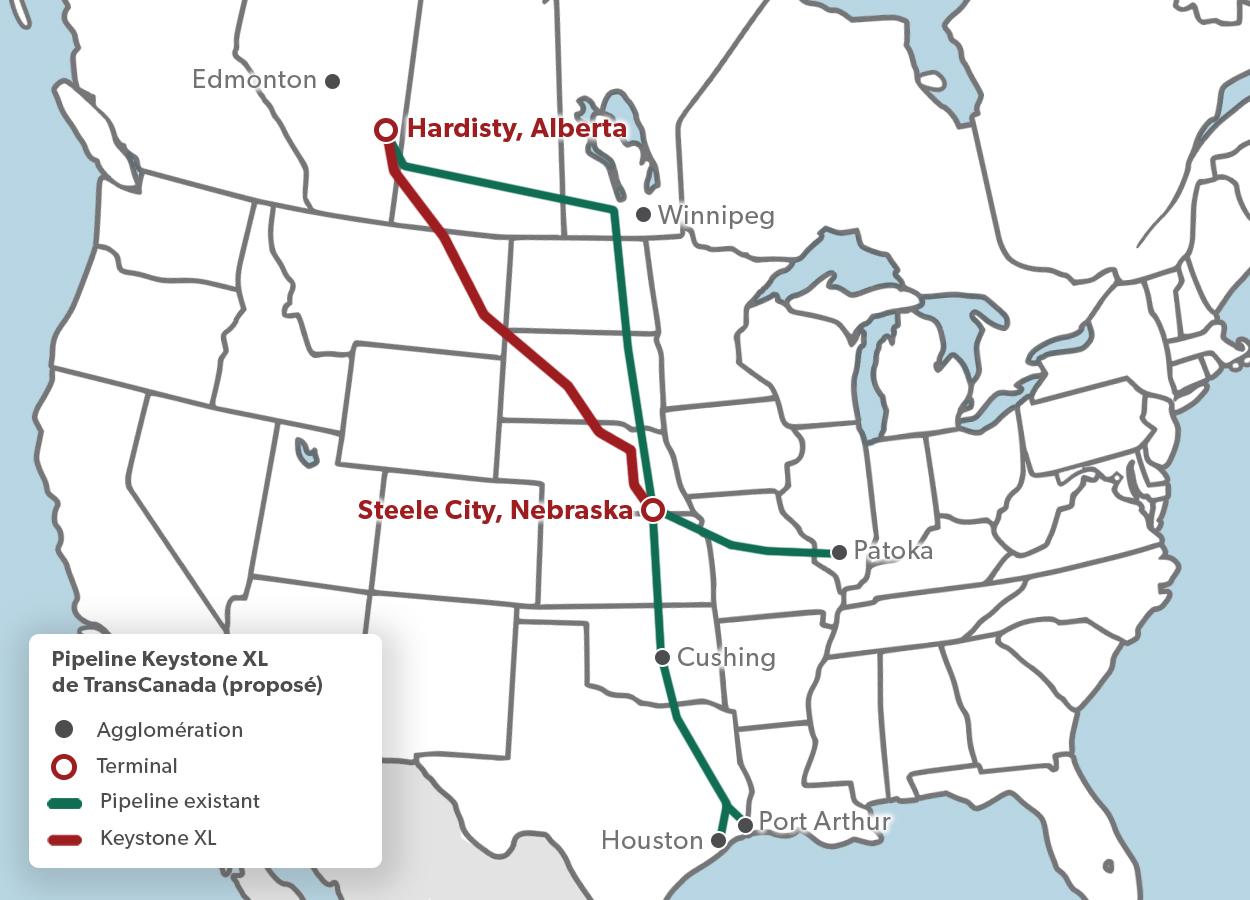 Pipeline Keystone XL de TransCanada (proposé)