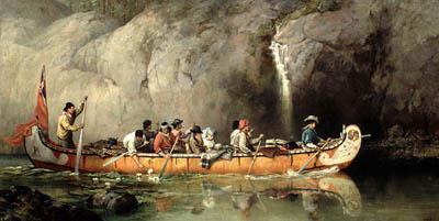 Canot et Voyageurs