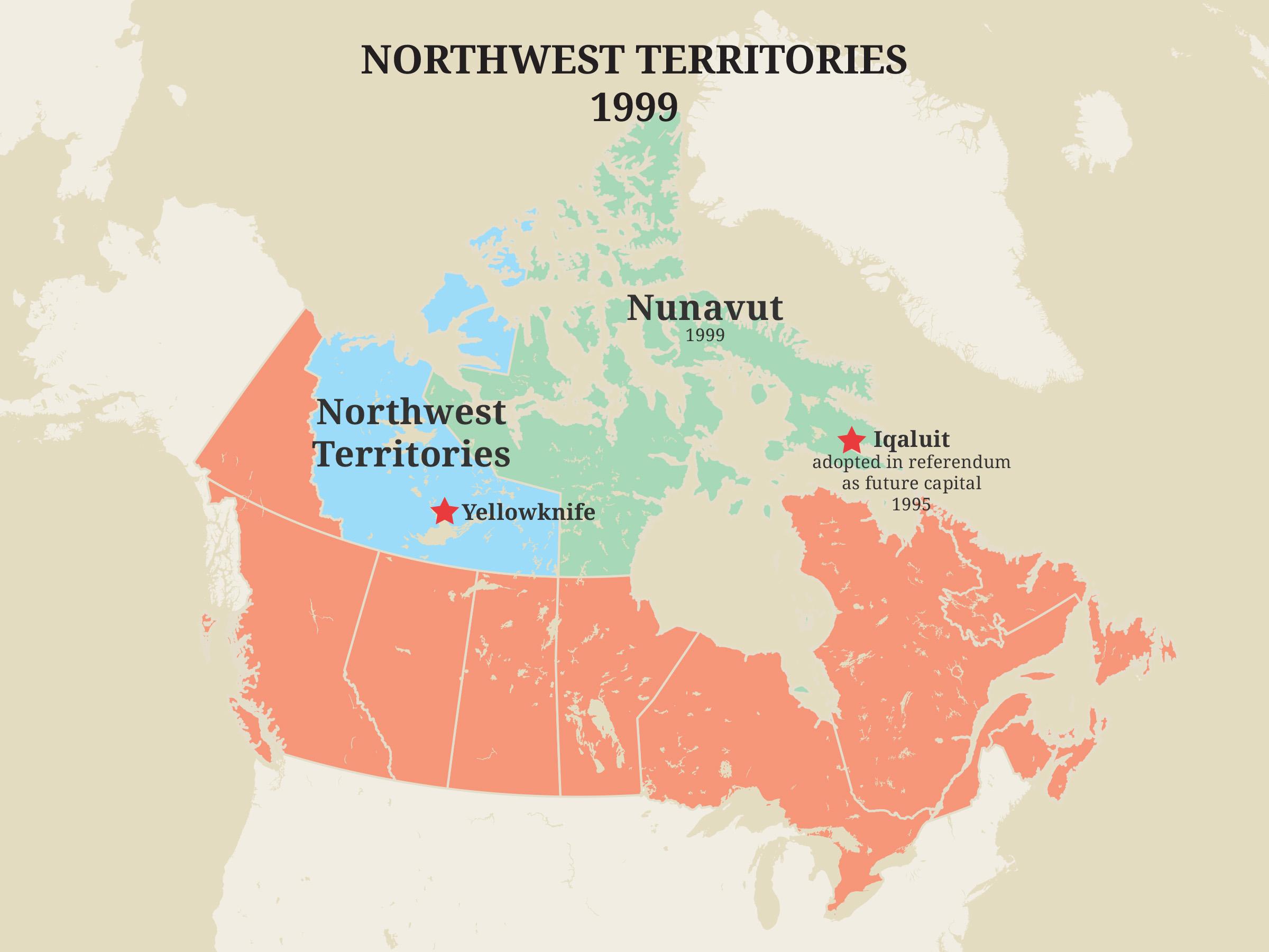 Territoires du Nord-Ouest, 1999