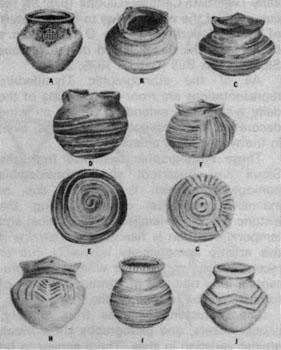 Linear Mounds, Pottery