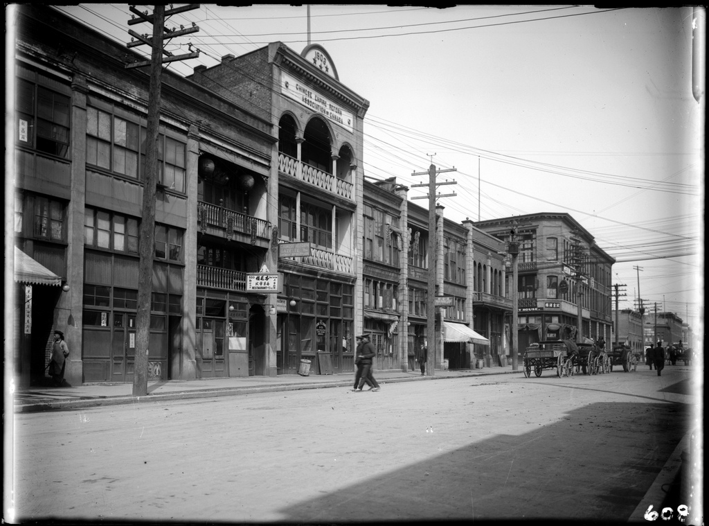 The west side of Carrall Street in Vancouver's Chinatown, 1906.