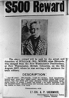 William (Bill) Miner, hors-la-loi