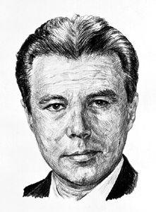 Un portrait illustré d'Uuno Vilho Helava