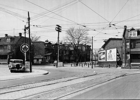 Corner of College and Lansdowne, 1939