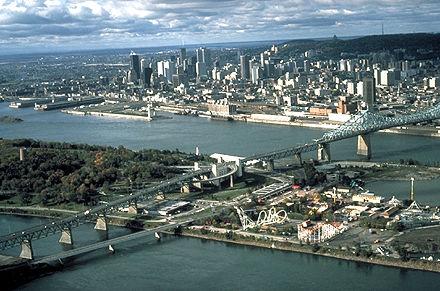 Montréal, vue aérienne de