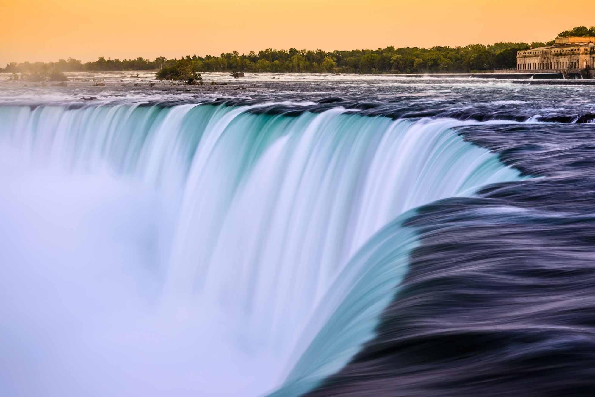 Dusk at Canadian Horseshoe Falls