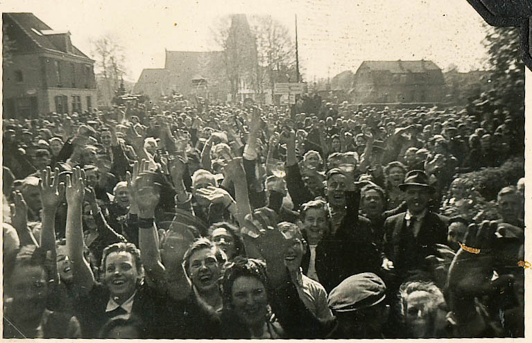 """The people of Ermelo, Netherlands liberated by """"B"""" Squadron of the Strathcona's on April 17th 1945."""