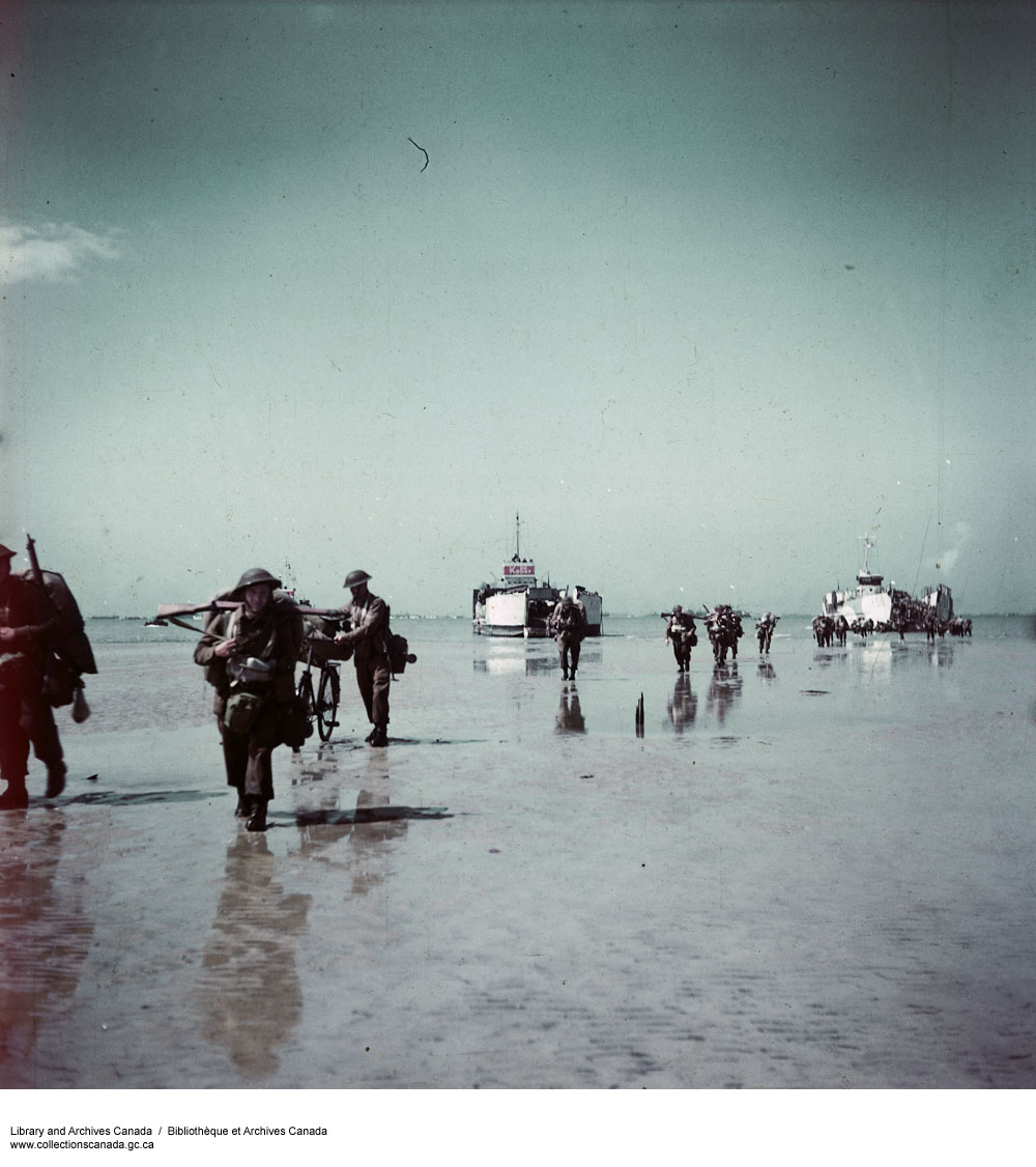 Canadian Infantry Going Ashore