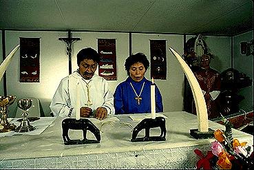 Messe catholique à Igloolik, au Nunavut