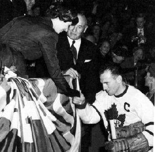 Ted Kenndey with Queen Elizabeth II