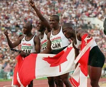 L'équipe masculine canadienne de relais, 4 x 100 m