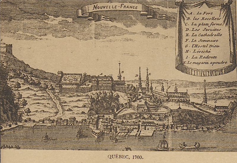 Québec City, ca. 1700