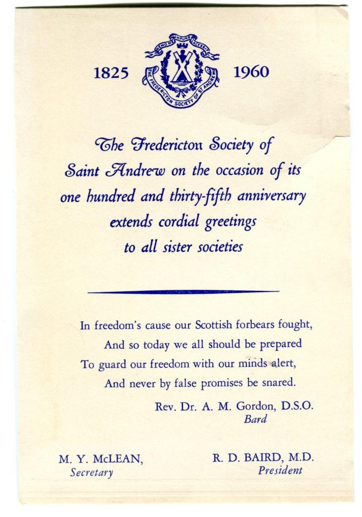 Fredericton Society of Saint Andrew