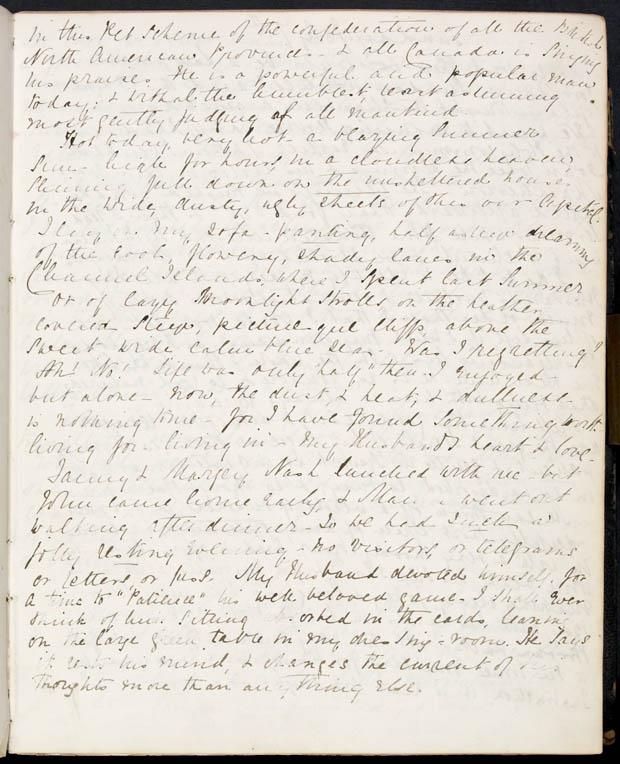 Journal de Lady Macdonald, 6 juillet 1867