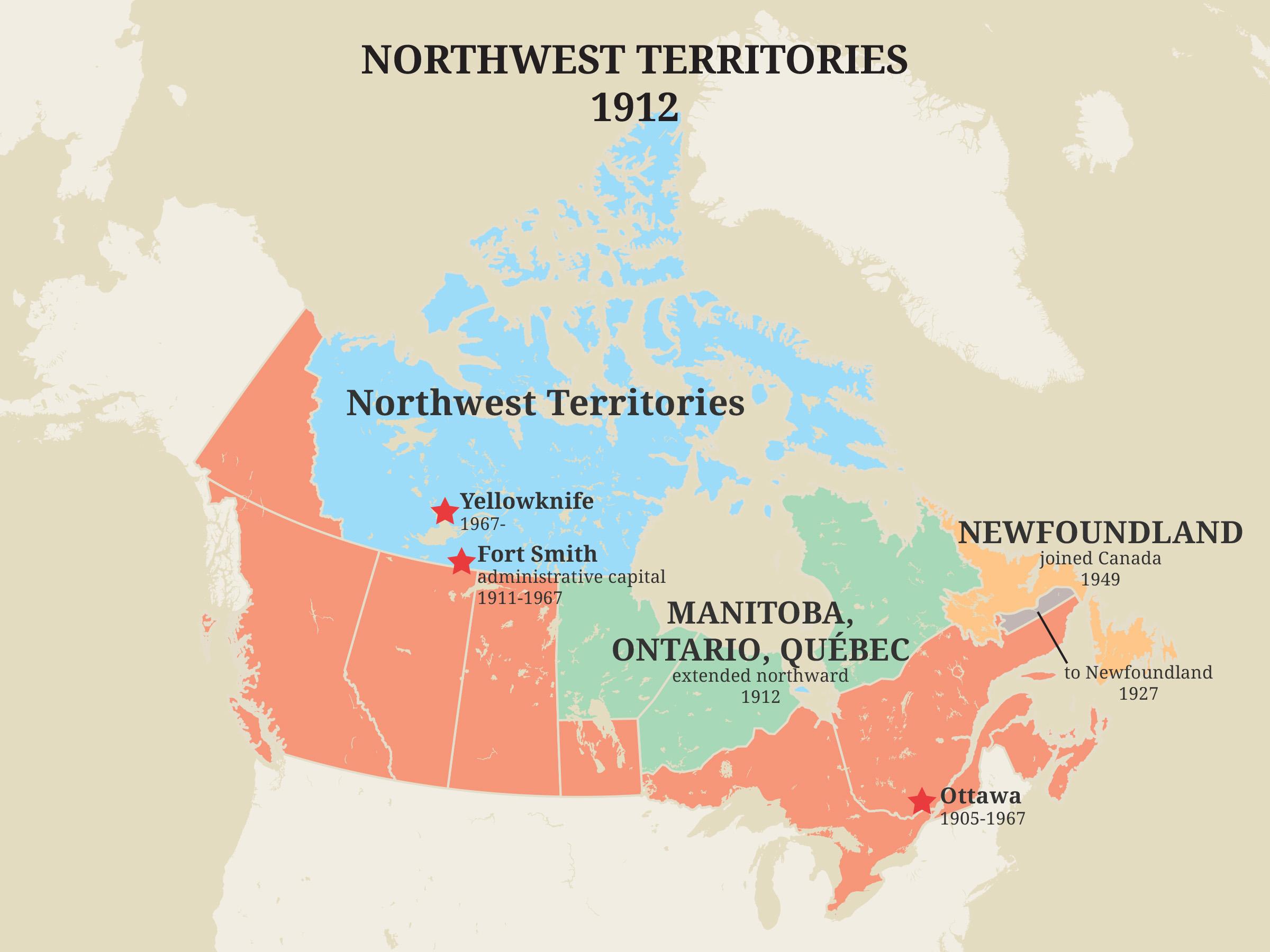 Territoires du Nord-Ouest, 1912
