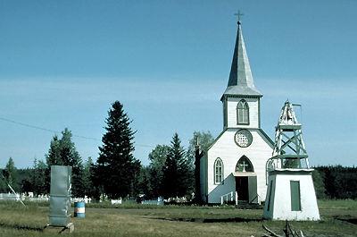 K'atlodeeche/Katl'odeeche First Nation's Church.