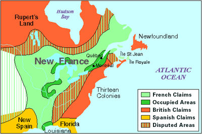 New France, Map