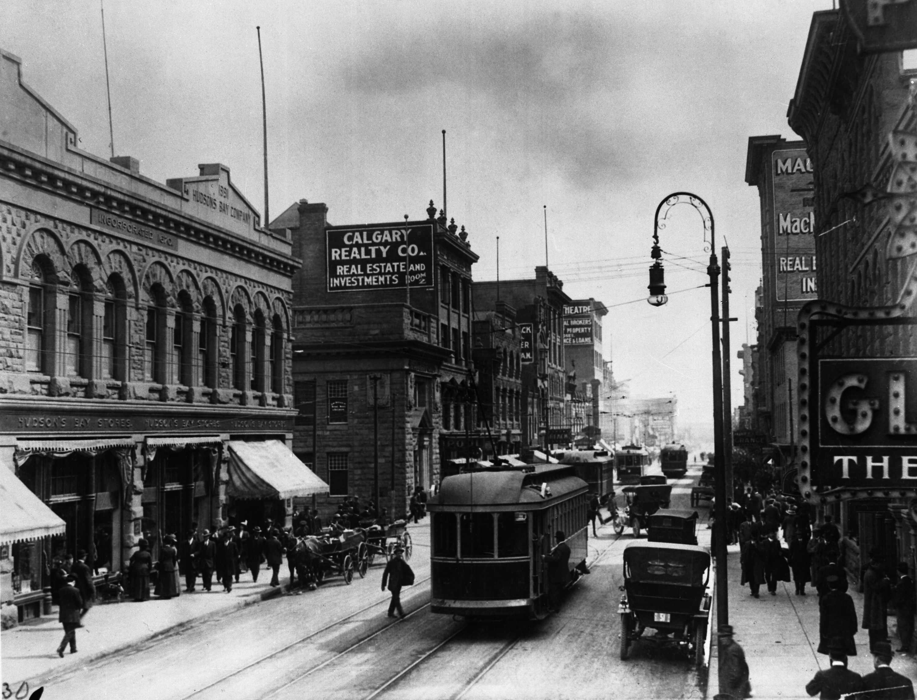 8th Avenue and Centre Street looking east, Calgary, Alberta
