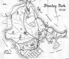 Map of Stanley Park, 1960