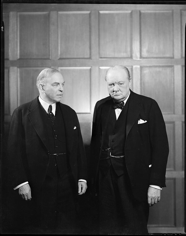 William Lyon Mackenzie King avec Winston Churchill