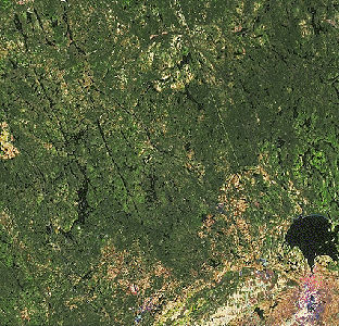 Canadian Shield, Satellite Image
