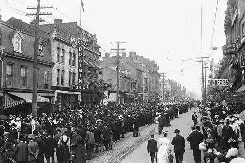 Labour Day Parade, Yonge Street, Toronto, c 1900