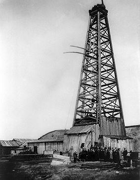Dingman, découverte du puits No 1 de