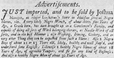 Vente d'esclaves aux enchères