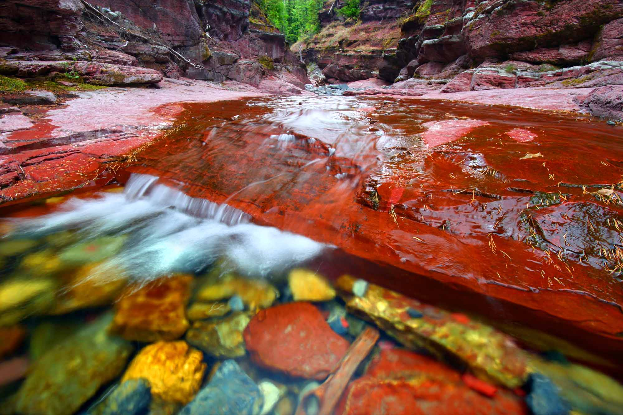 Red Rock Canyon Waterton Lakes Park