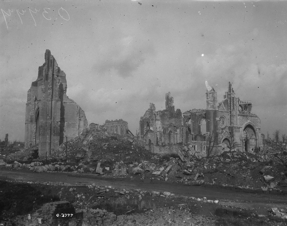 Cathedral in Ypres, 1918.