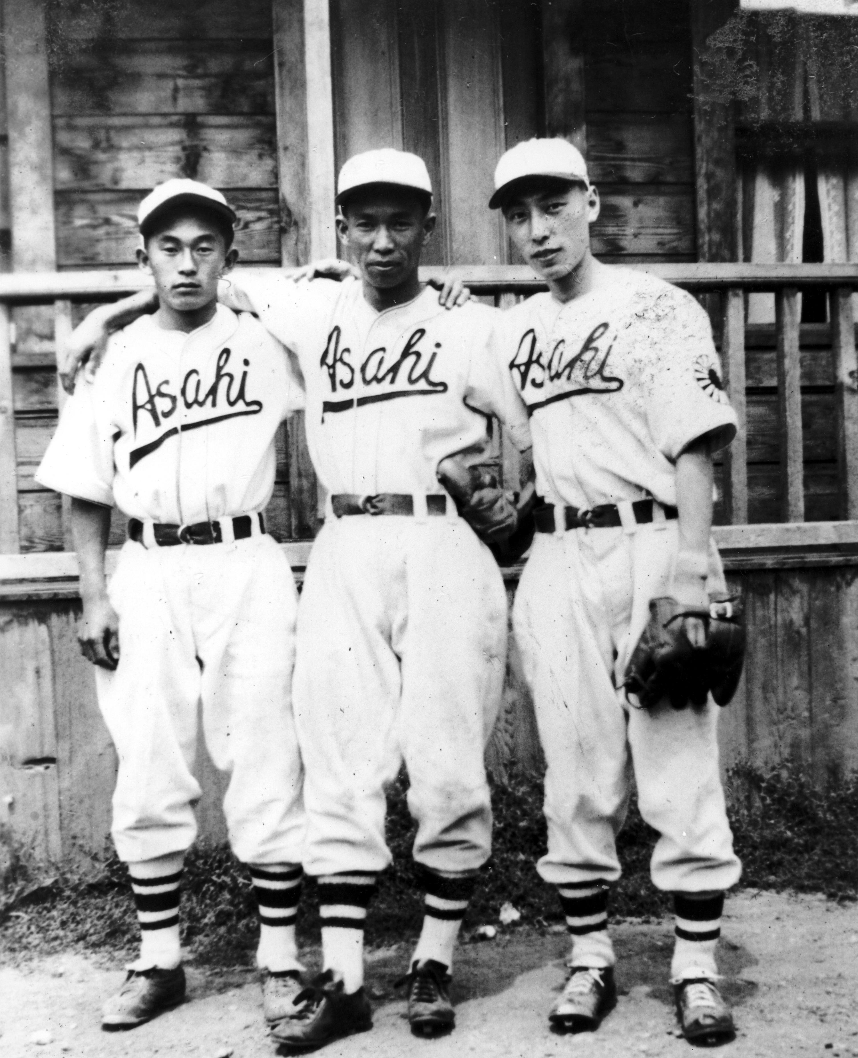 Kaye Kaminishi and Two Asahi Players