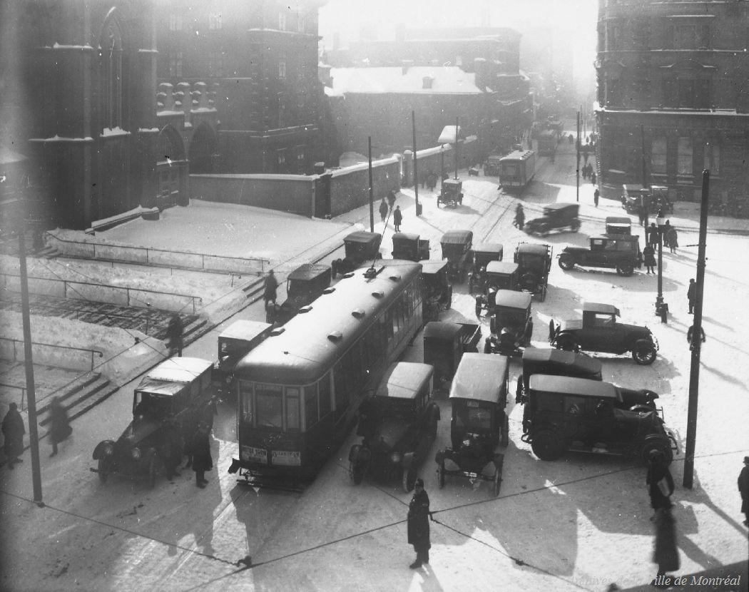 Place d'Armes, Montréal, 1925