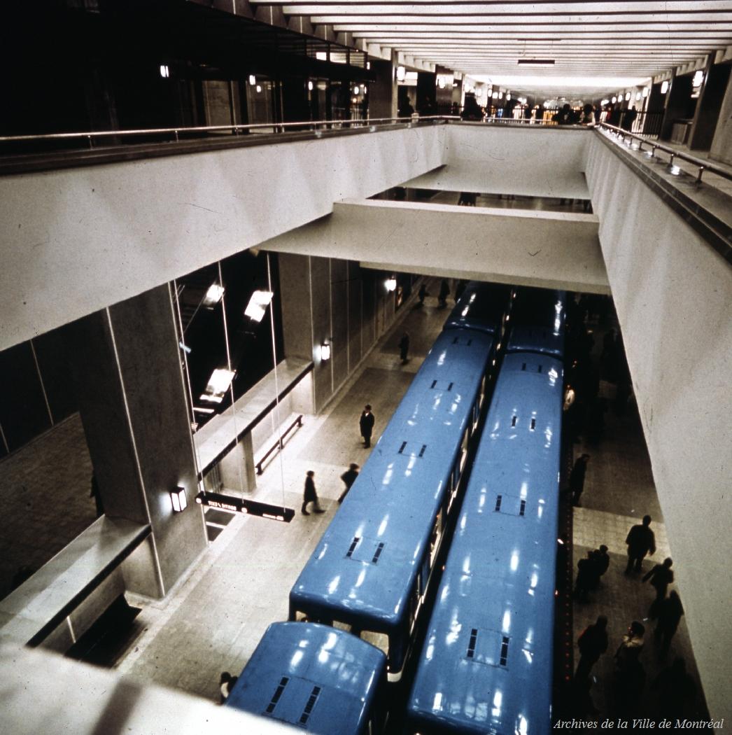 Le métro de Montréal, 1966