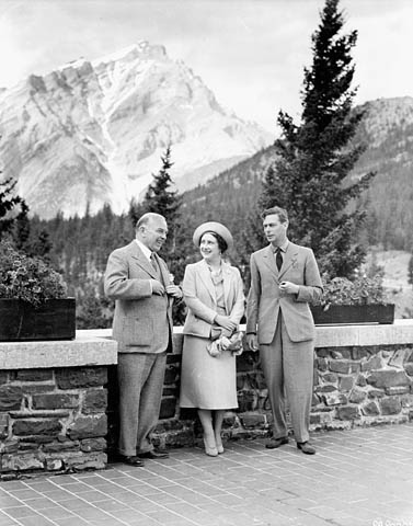 Premier ministre William Lyon Mackenzie King durant une visite royale