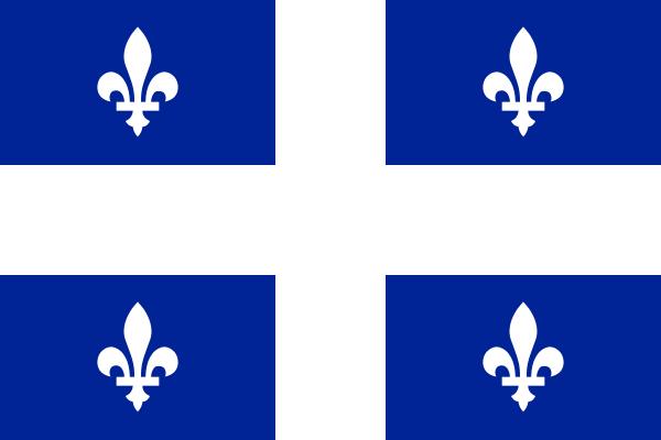 Drapeau du Québec (le fleurdelisé)
