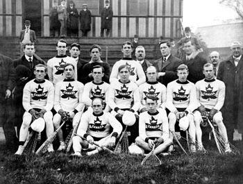 L'équipe canadienne de crosse, 1908