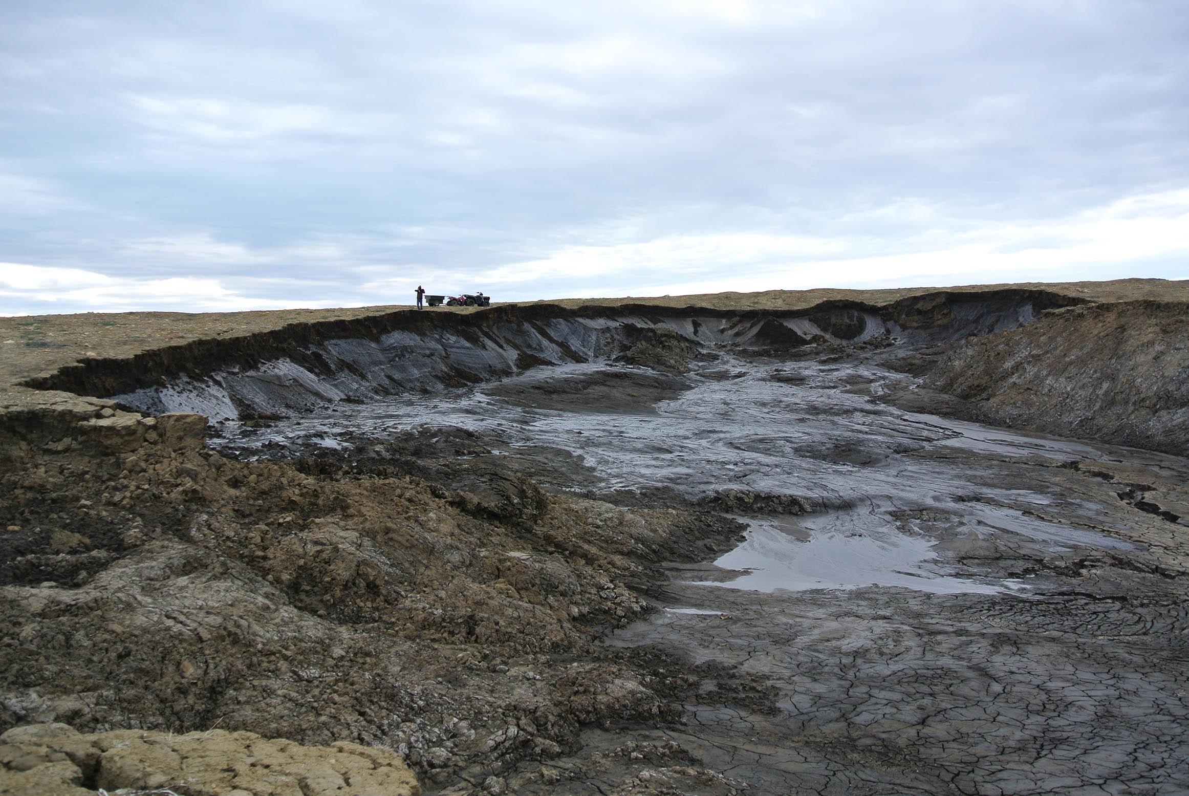 Retrogressive Thaw Slump, Fosheim Peninsula