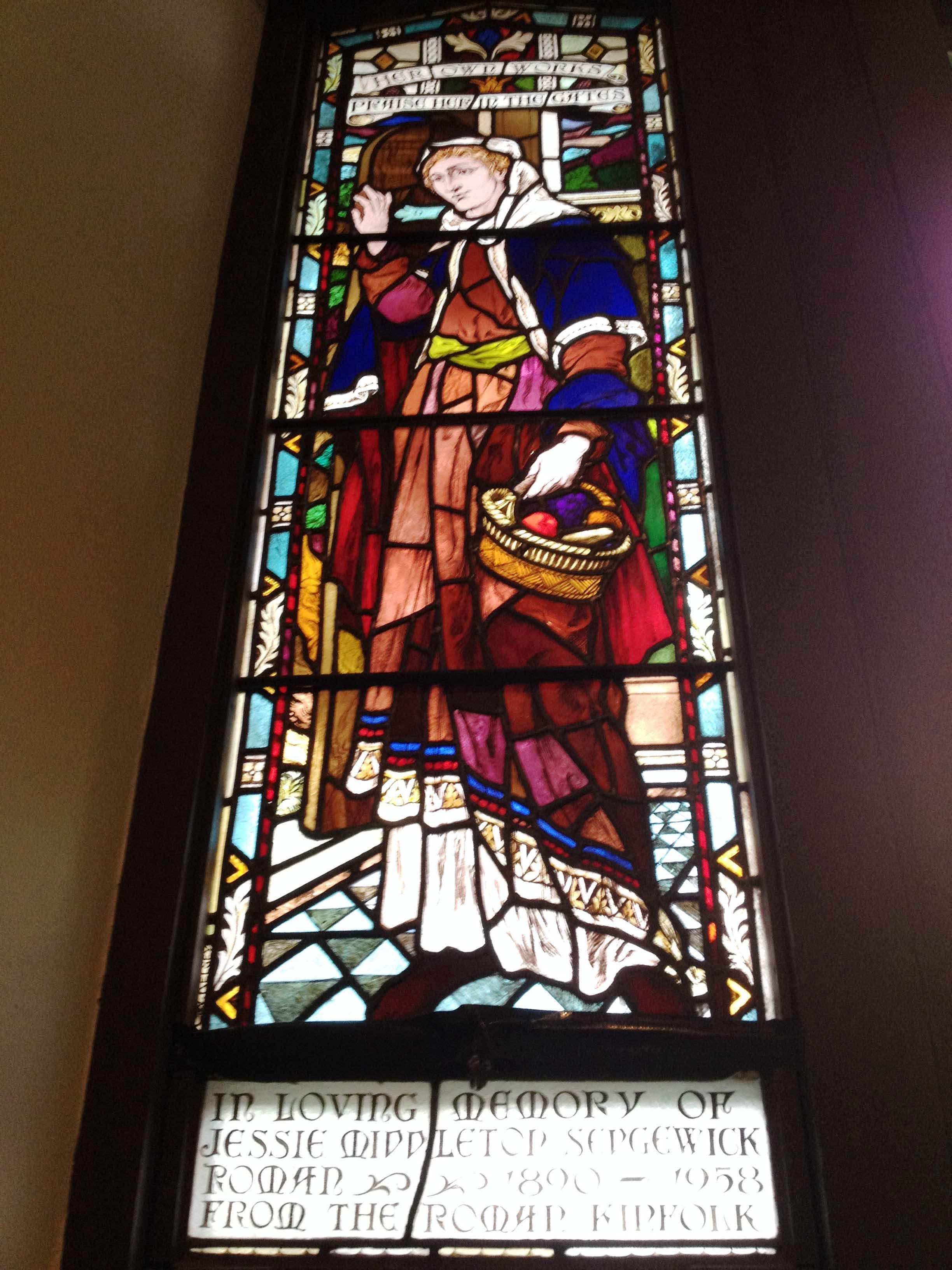 Stained glass window Jessie Roman