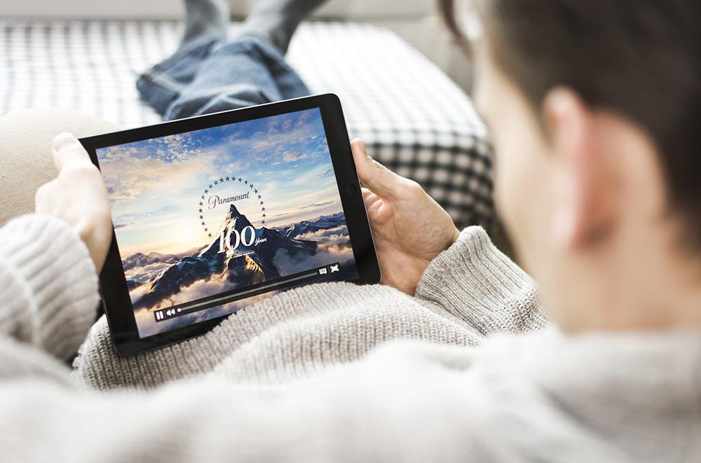 Regardant un film sur iPad