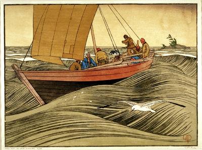« York Boats on Lake Winnipeg »