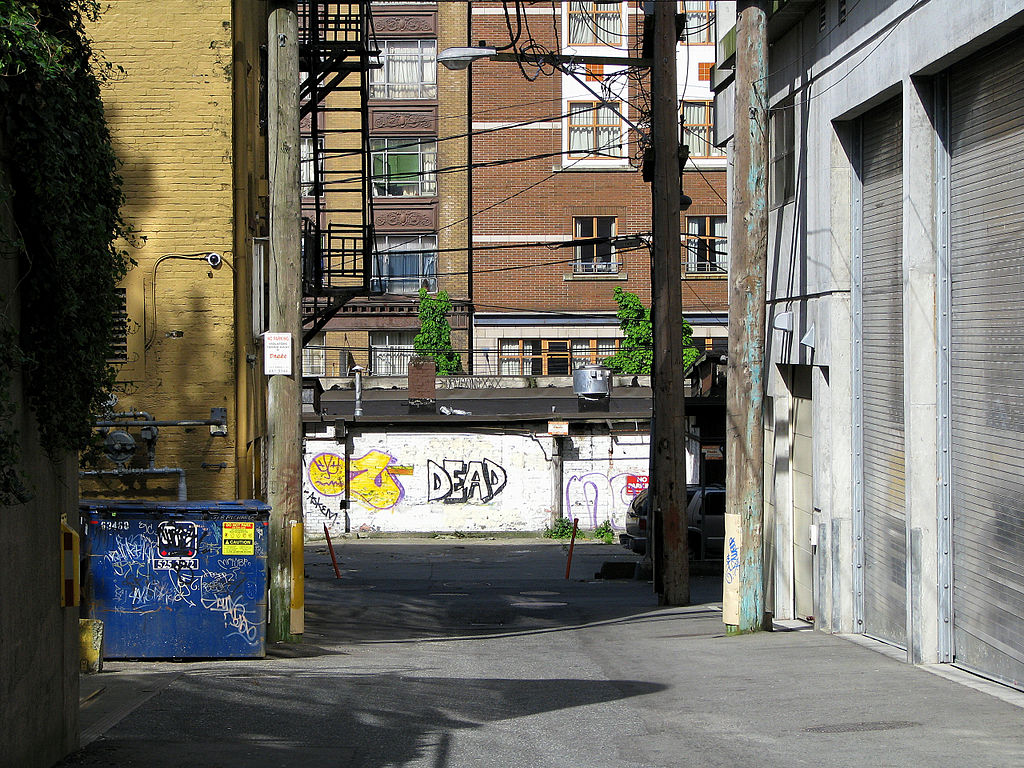 Graffiti in Vancouver's Downtown Eastside.