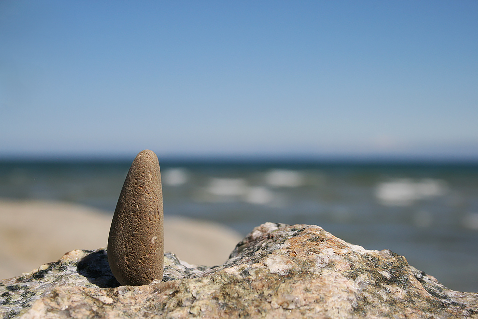 A detail of Sauble Beach in Bruce County, Ontario.