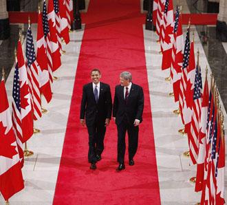 Harper et Obama
