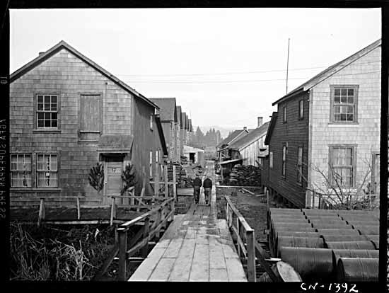 Japanese Canadian homes in Steveston, B.C., 1942.