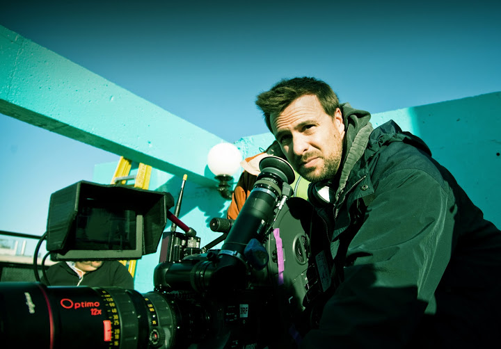 Daniel Roby sur le tournage de Funkytown.