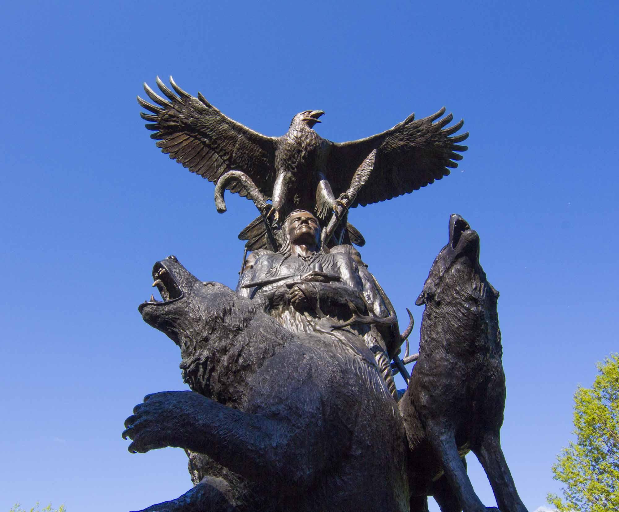Monument national érigé à Ottawa en l'honneur des anciens combattants autochtones