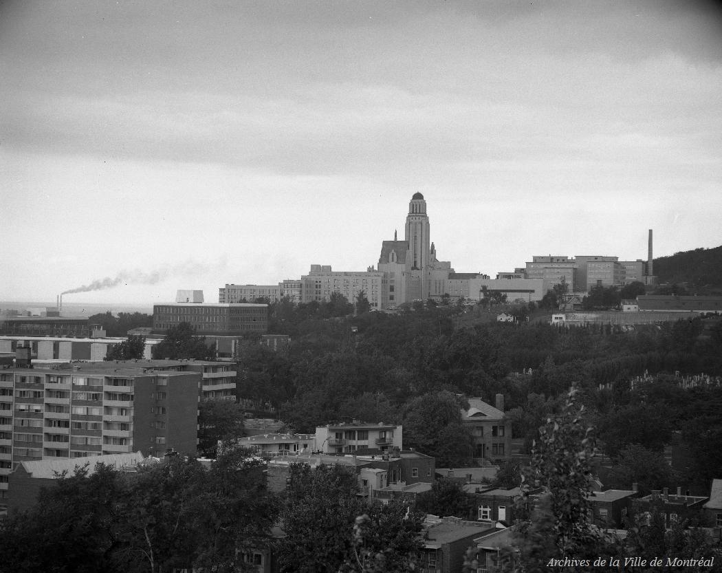 The Université de Montréal, as seen from St. Joseph's Oratory, 1969